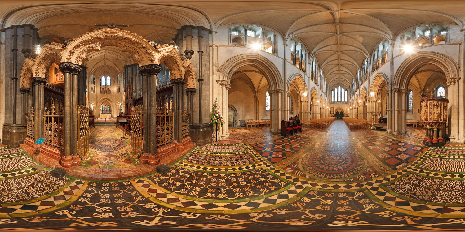 Christ Church Picture: Christ Church Cathedral In Dublin (1) :: 360 :: Spherical