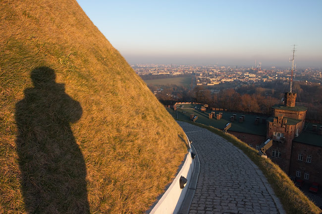 Going down from Kościuszko Mound