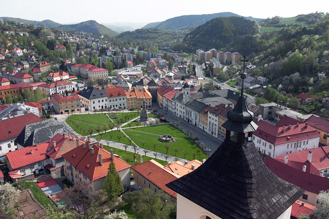 Kremnica seen from the castle tower