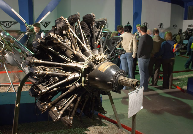 The aeroplane engines exhibition in the Aviation Museum in Kraków