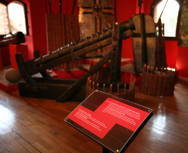 Old cannons in the Malbork castle museum exhibition