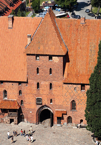 View from the Malbork castle tower