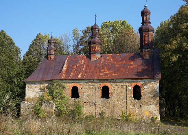 Ruins of the Greek Orthodox church in Królik Wołoski