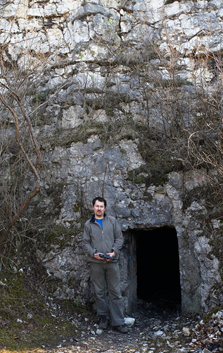 One of the north-side entrances of the Bodzów cavern