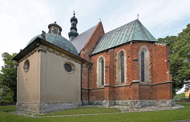 St. Nicholas's church in Bejsce with the Firlej Chapel