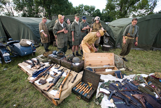 4th Air Show in Kraków - military reconstruction teams
