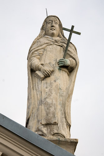 St. Lazarus' church in Kraków - one of the figures on the roof