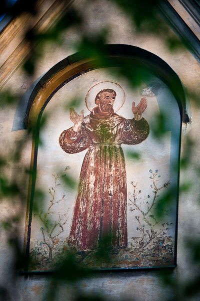Painting on the wall of the Franciscan church of Saint Casimirus in Kraków