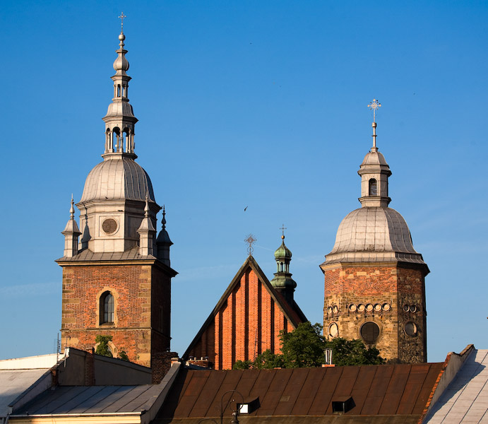 Towers of St. Margaret's church in Nowy Sącz