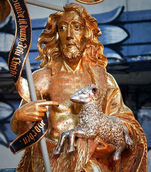 Church of Peace in Jawor: statue of Saint John the Baptist in the main altar (17th century)