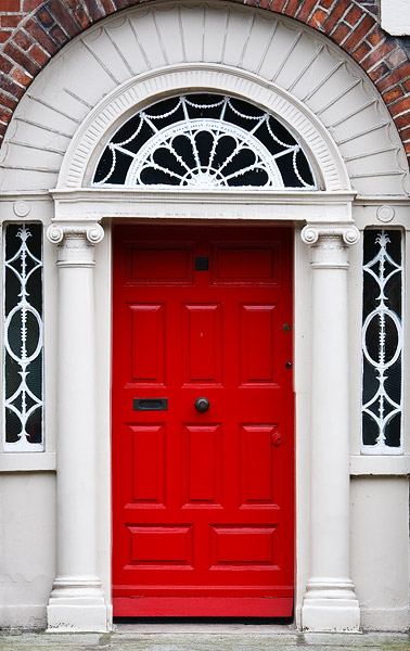 Typical Dublin doors
