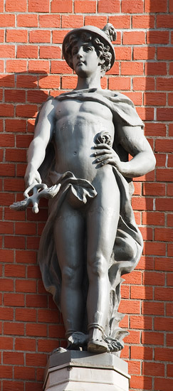 A sculpture from the facade of the Blackheads' House in Riga