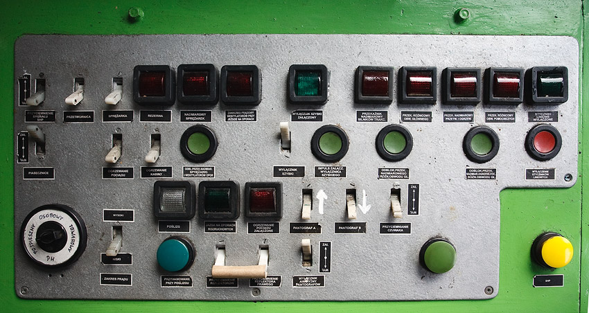 Inside the ET22-209 electric locomotive