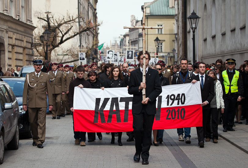Katyn Remembrance March in Kraków