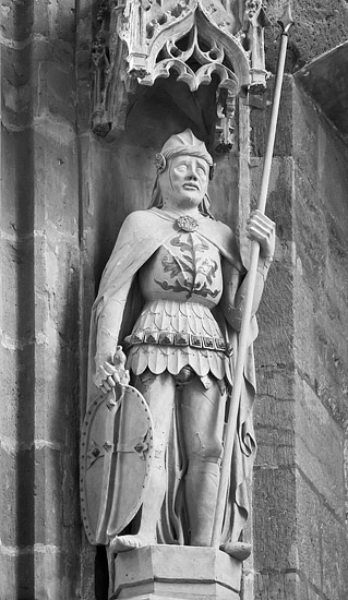 A statue in the Princes' Chapel in the Meissen Cathedral