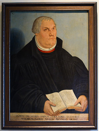 A portrait of Martin Luther in the Great Sacristy of the Meissen Cathedral