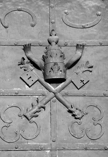 The door of the abbey church in Tyniec