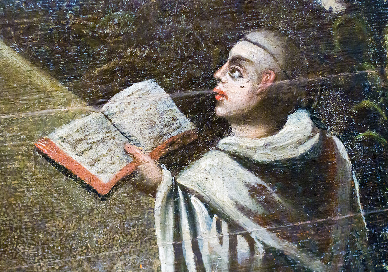A detail from a 17th-century painting in the chapter house chamber of the Cistercian abbey in Mogiła