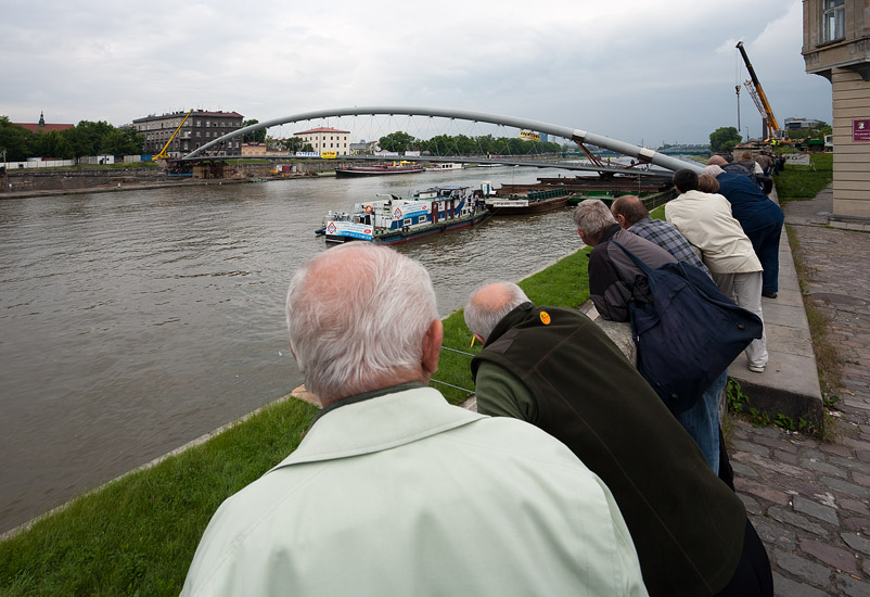19th June 2010: a new footbridge now spans across the Vistula river