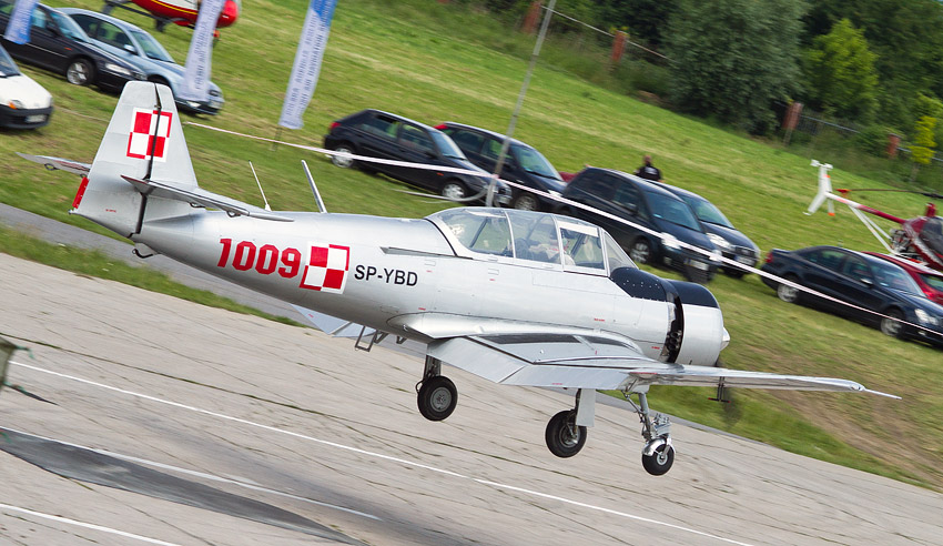 7th Air Show in Kraków: PZL TS-8 Bies (SP-YBD)