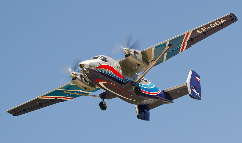 7th Air Show in Kraków: PZL M28 Skytruck (SP-DDA)