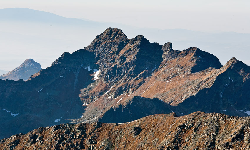 Świnica (2301 m) seen from the summit of Rysy