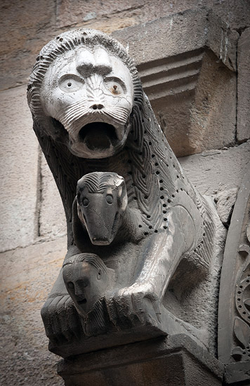 Lukka: a lion from the side of the church of Santa Maria Corte Orlandini