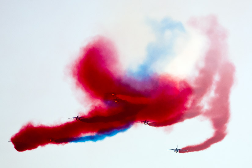Air Show Radom 2011: abstract painting by Patrouille de France