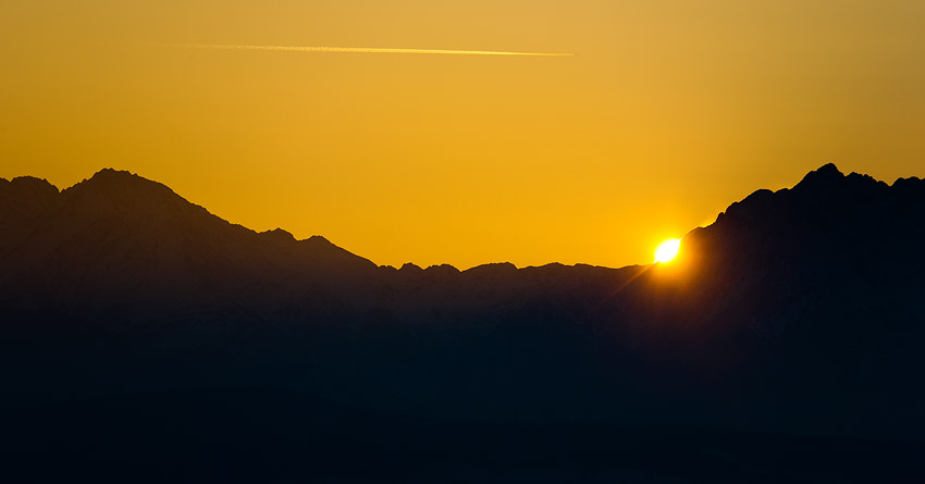 Sunset over the Tatras