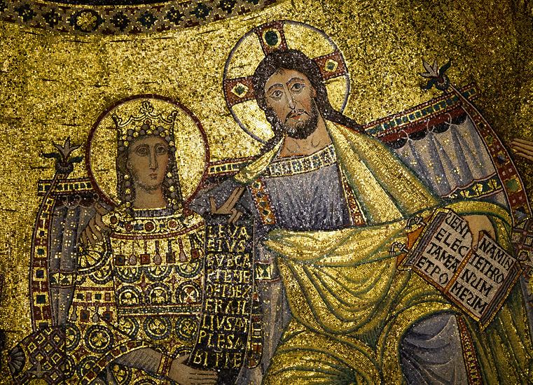 Mosaic in the apse of the Basilica of Santa Maria in Trastevere