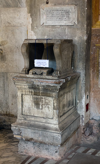 Episcopal throne of Pope Gregory the Great (Santo Stefano Rotondo, Rome)