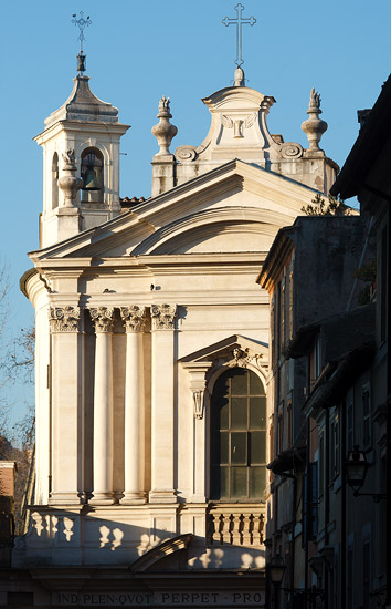 The church of Santa Maria dell'Orazione e Morte, Rome