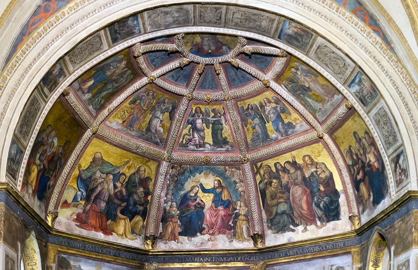 Frescoes in the apse, Sant' Onofrio, Rome