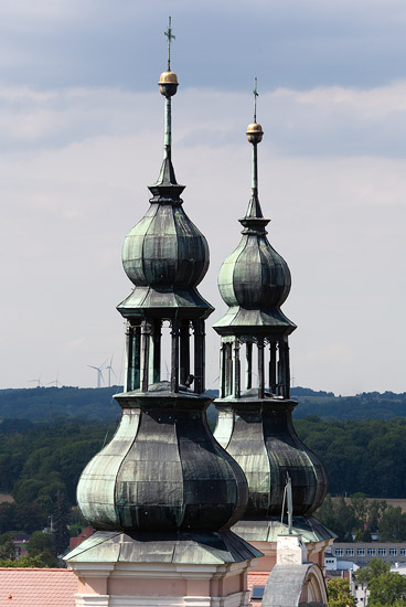 Church towers in Otmuchów
