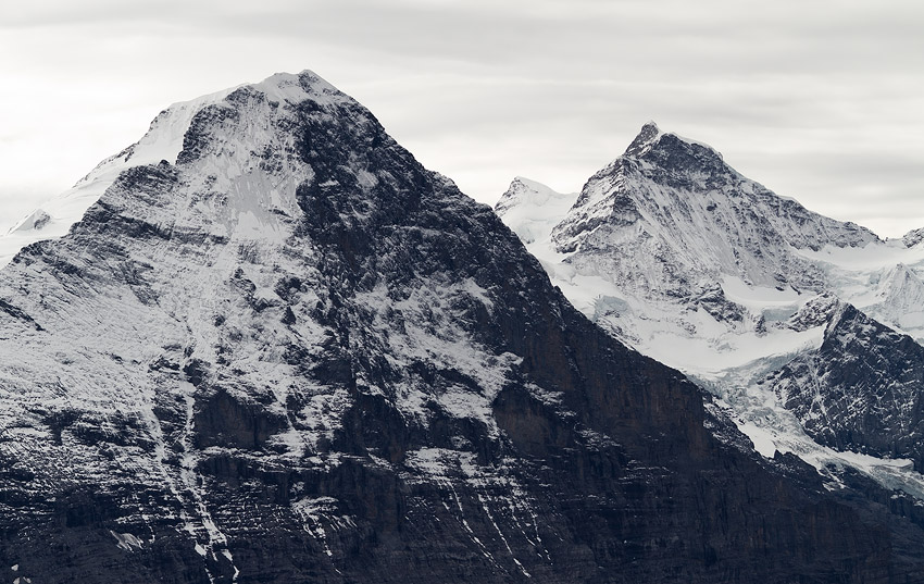 Eiger (3970 m) and Jungfrau (4158 m) from Wildgärst