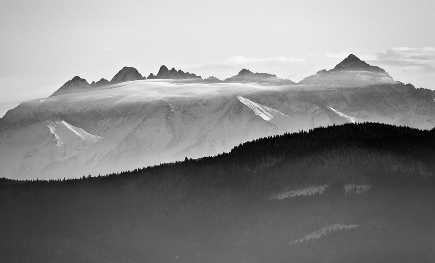 View from Ćwilin: Tatra Mountains
