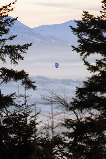 A balloon over Podhale
