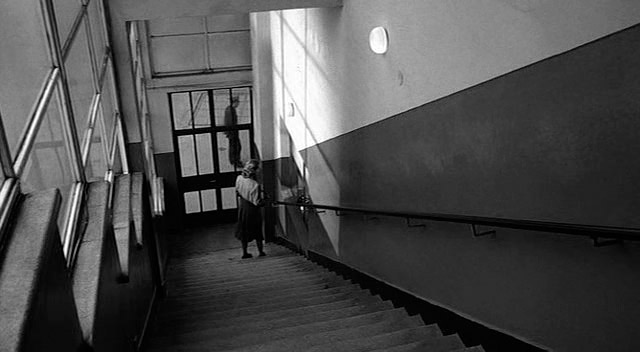 """Staircase in the Schindler's factory (a frame from the """"Schindler's List"""" movie by Spielberg)"""