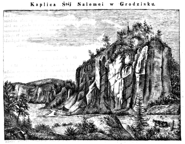 """Chapel of St. Salomea in Grodzisko"" - a picture from the 1835 periodical (""Przyjaciel Ludu""; scanned by Google Books)"