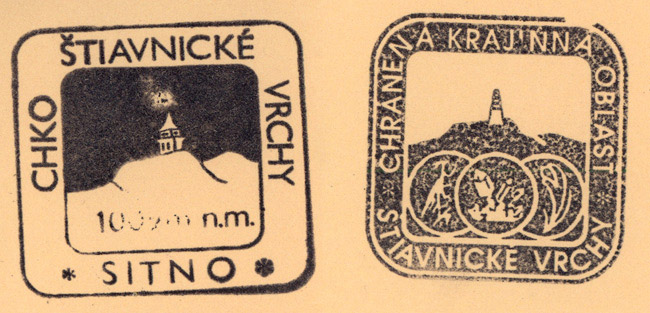 Stamps from the view tower on Sitno