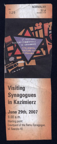 Visiting Synagogues in Kazimierz tour ticket