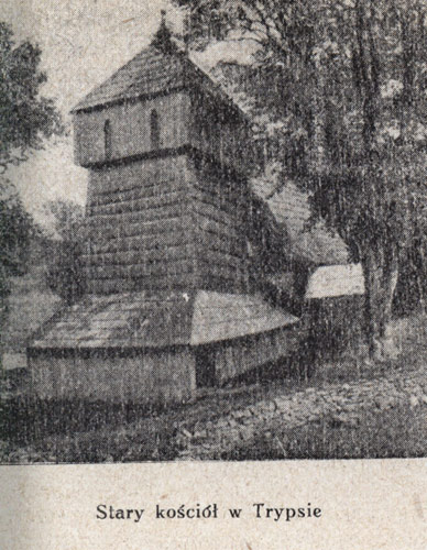 Old church in Trybsz - still with a tower (photograph from a 1921 guidebook)