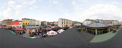 7th International Soup Festival in Kraków.  Click to view this panorama in new fullscreen window