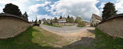 Banská Štiavnica - Piargska gate.  Click to view this panorama in new fullscreen window