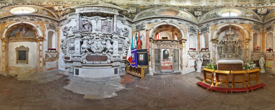 Chapel of the Firlej family in St. Nicholas's church in Bejsce.  Click to view this panorama in new fullscreen window