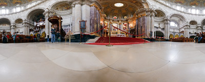 Inside the Berliner Dom, the main cathedral of the German capital.  Click to view this panorama in new fullscreen window