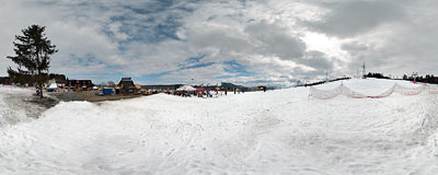 Białka - Kotelnica ski slope.  Click to view this panorama in new fullscreen window