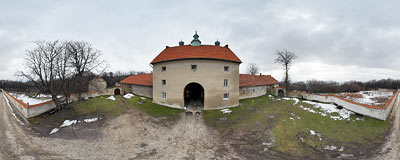 Camaldolese monastery in Bielany.  Click to view this panorama in new fullscreen window