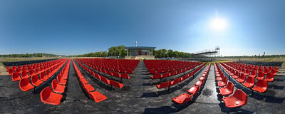 VIP seats for the Mass celebrated by Pope Benedict XVI.  Click to view this panorama in new fullscreen window