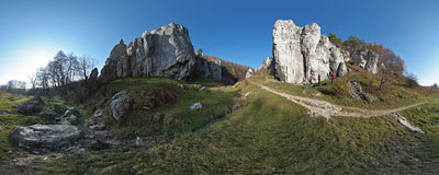 Bolechowicka Valley rock area.  Click to view this panorama in new fullscreen window